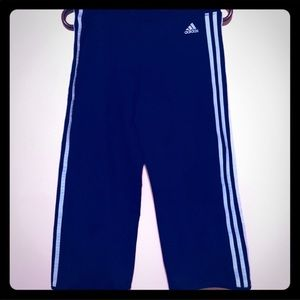 Blue adidas joggers/ yoga pants